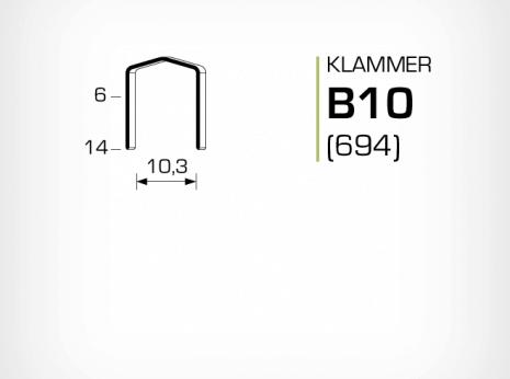 Klammer B10 och JK694