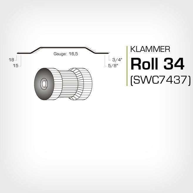 Klammer Roll 34 och swc7437