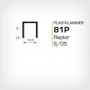 Plastklammer Raptor 81P