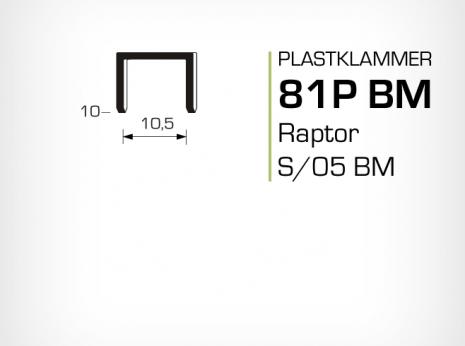 Plastklammer Raptor 81P BM