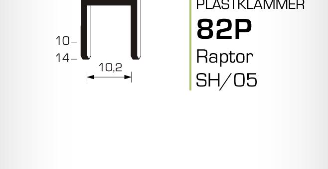 Plastklammer Raptor 82P