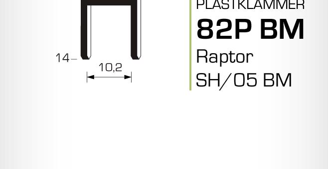 Plastklammer Raptor 82P BM