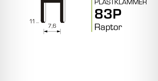 Plastklammer Raptor 83P