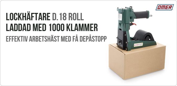 Lockhäftare D.18 klammer Roll D 18 - Kartonhäftare