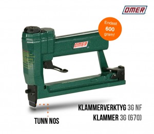 klammerverktyg 3g NF tunn nos klammer 670