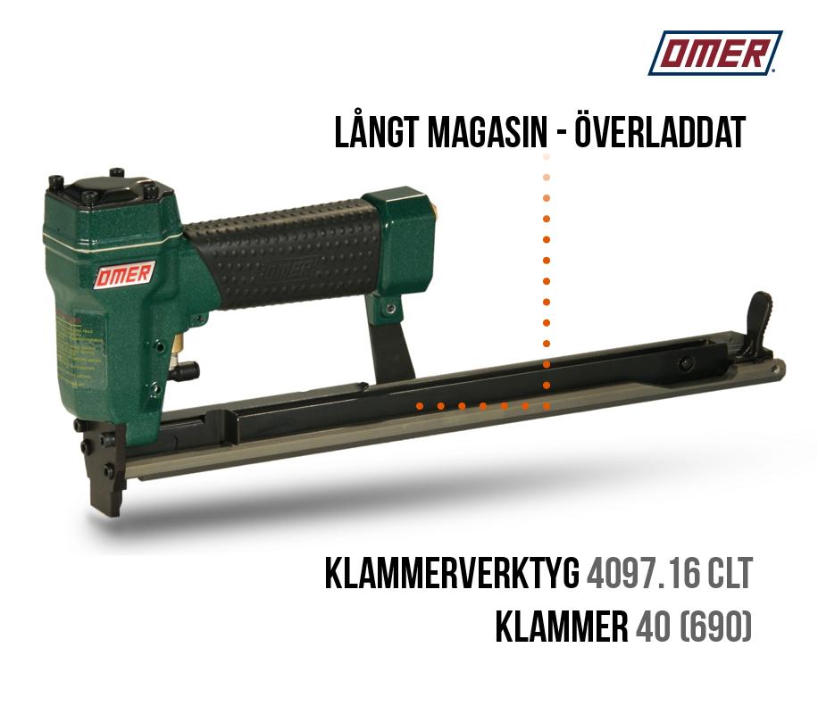 Klammerverktyg 4097.16 CLT Överladdat långt magasin