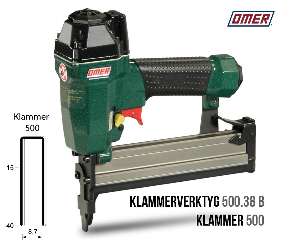 Klammerverktyg 500.38 B är underladdad för klammer 500