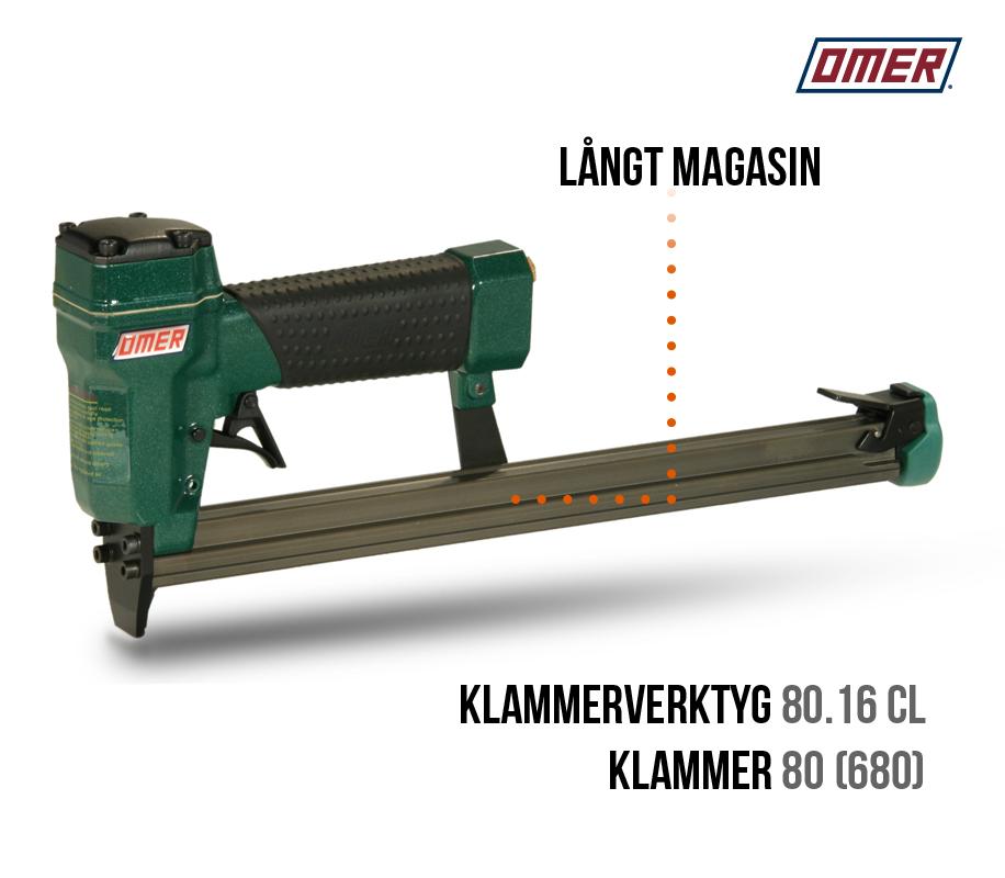 Klammerverktyg 80.16 CL Långt magasin Klammerpistol