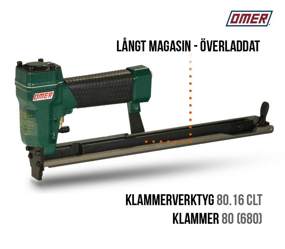 Klammerpistol 80.16 CLT överladdat långt magasin