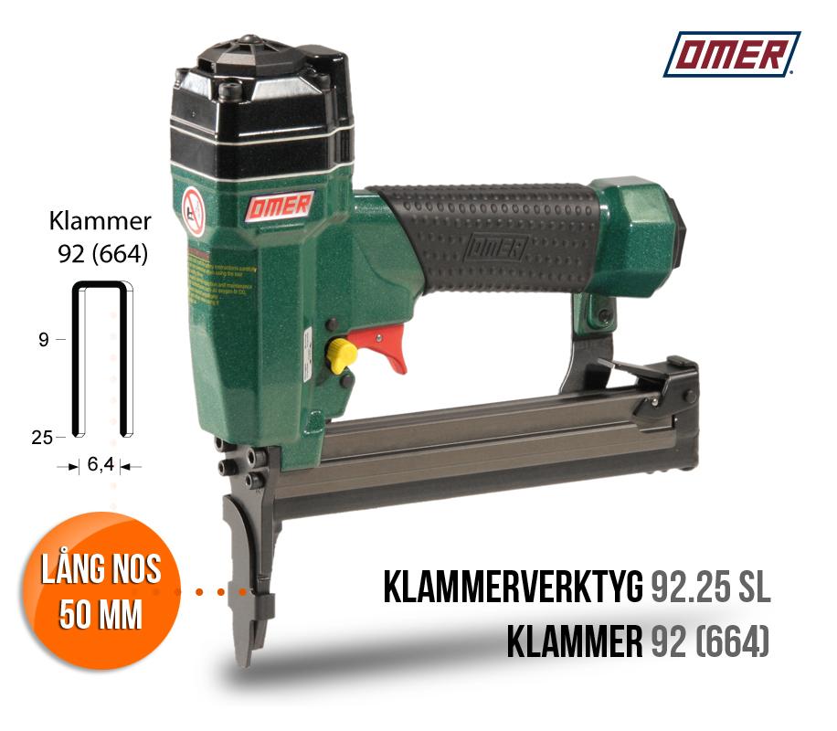 Klammerverktyg 92.25 SL med lång nos för klammer 92 eller 664