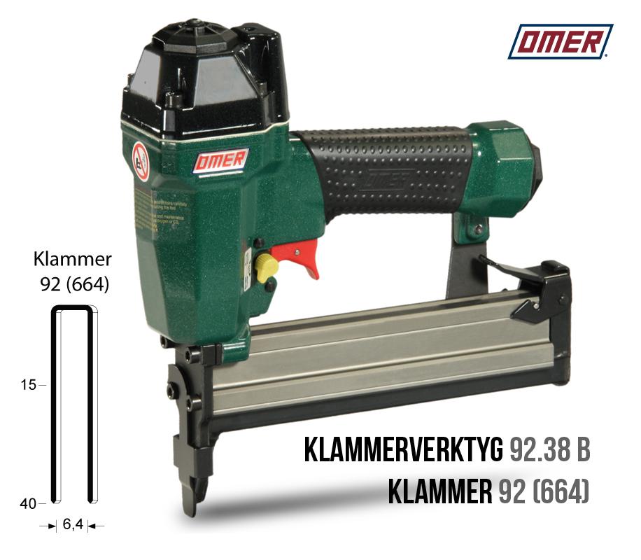 Klammerverktyg 92.38 B är underladdad klammer 92 eller 664