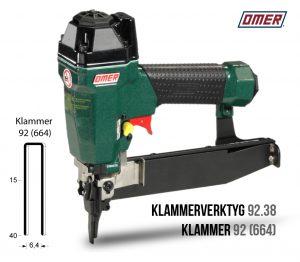 Klammerverktyg 92.38 för klammer 92 eller 664