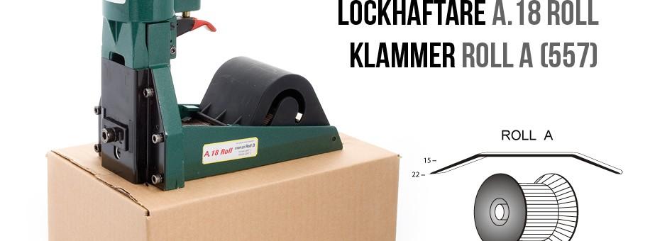 Lockhäftare a.18 Roll pneumatisk klammer A 557 kartonghäftare