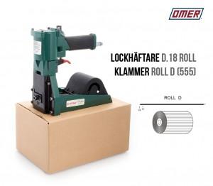 Lockhäftare D.18 Roll pneumatisk klammer D 555 kartonghäftare