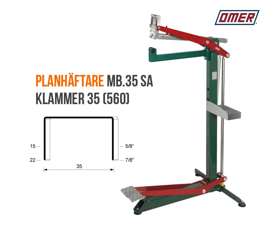 Planhäftare MB.35 SA Klammer 560