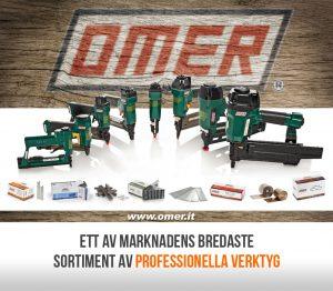 OMER har ett av marknadens bredaste sortiment av klammerverktyg, stiftverktyg