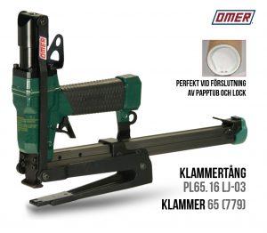 Klammertång PL65.16 LJ-03 papptuber för klammer 65
