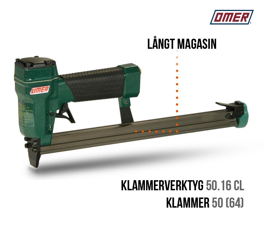 Klammerverktyg 50.16 cl långt magasin-klammer 50 eller jk64