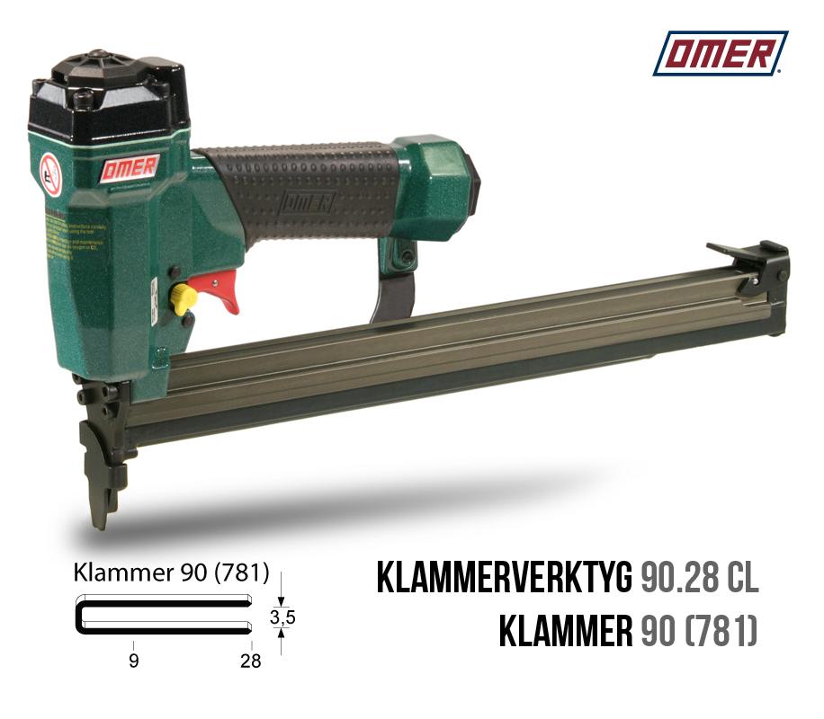 Klammerverktyg 90.28 cl klammer 90 långt magasin