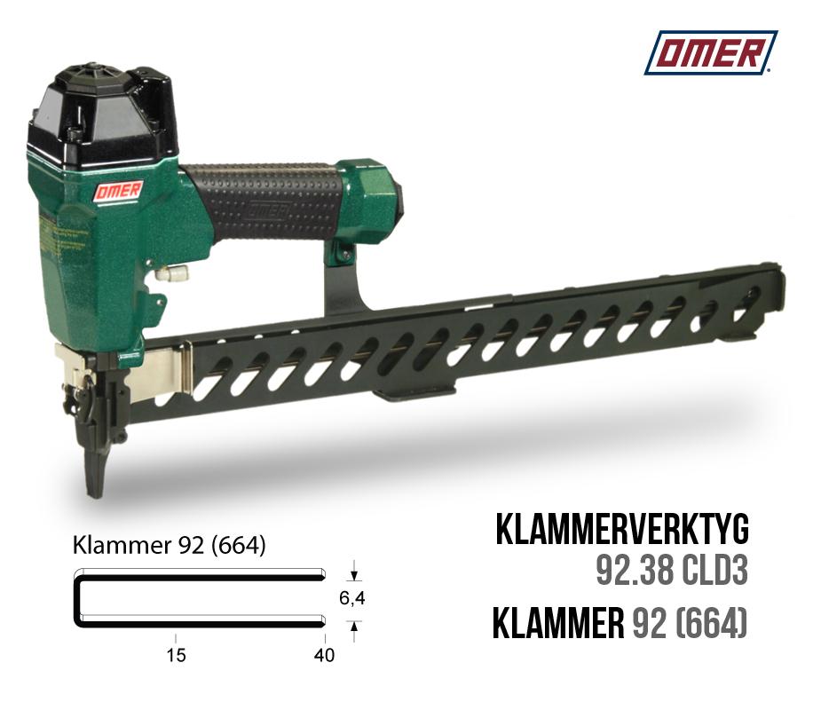 Klammerverktyg 92.38 cld3 klammer 92 eller 664