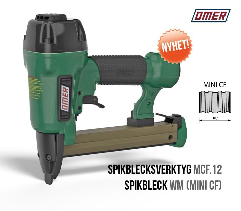 Spikblecksverktyg MCF.12 OMER spikbleckspistol