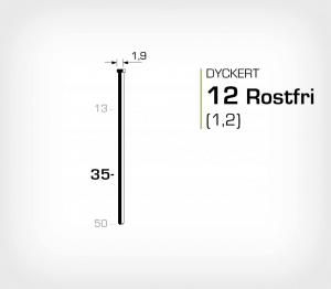 Rostfri dyckert 12/35 SS dyckertverktyg