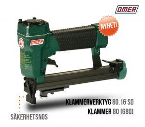 Klammerverktyg 80.16 SD med säkerhetsnos och distanshjul